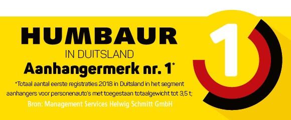 Logo Humbaur aanhangermerk nr 1 in Duitsland