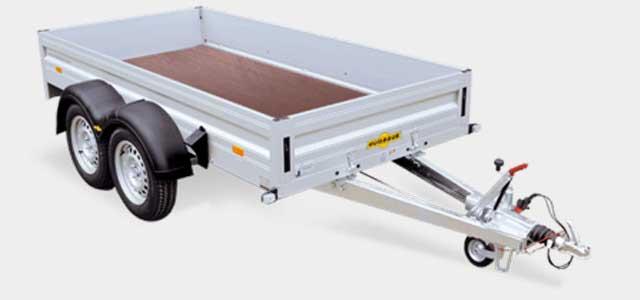 Humbaur tandemasser bakwagen met aluminium borden