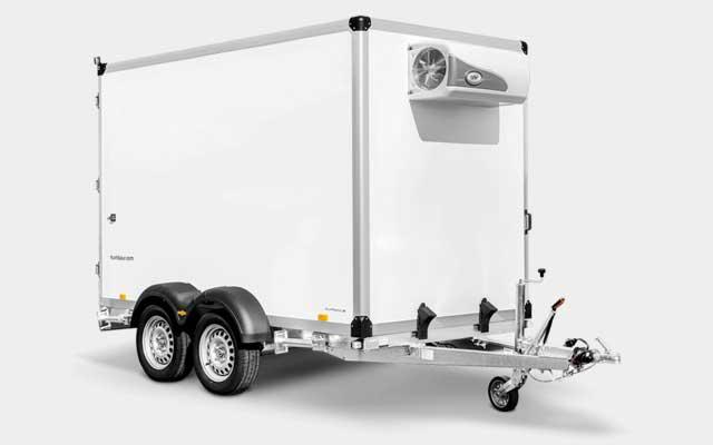 Humbaur tandemas koelaanhangwagen met koelaggregaat