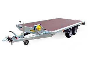 Universele voertuigtransporter met dichte laadvloer