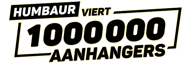 Logo Humbaur 1.000.000 aanhangers
